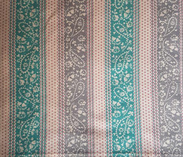 green brown stripes paisley beeswax wraps