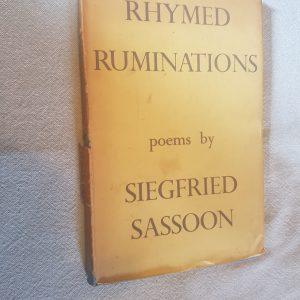 Rhymed Ruminations Siegfried Sassoon poems 1939