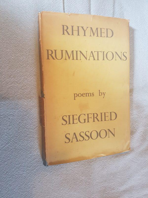 Rhymed Ruminations Siegfried Sassoon poems 1939