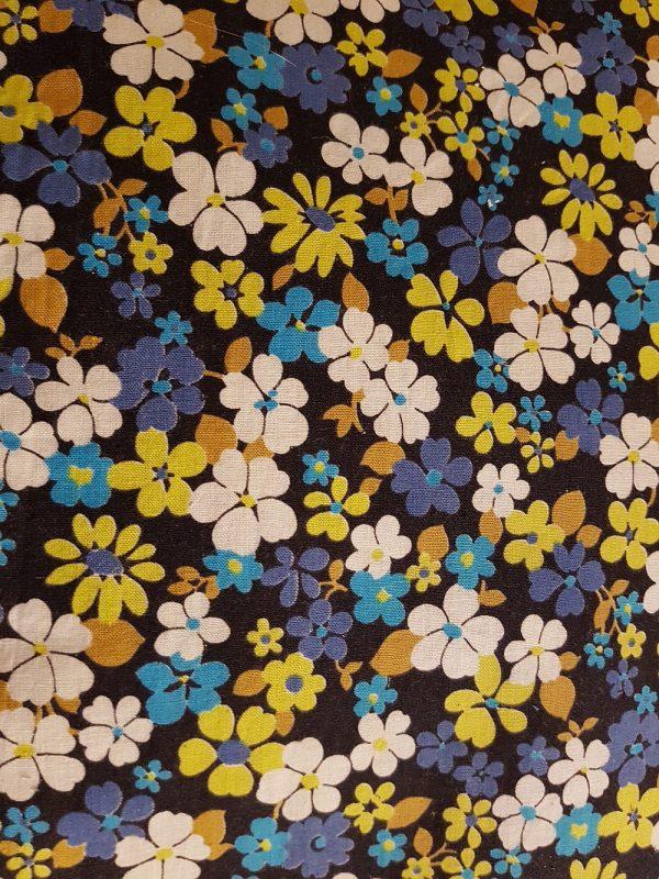 blue yellow white flowers dark