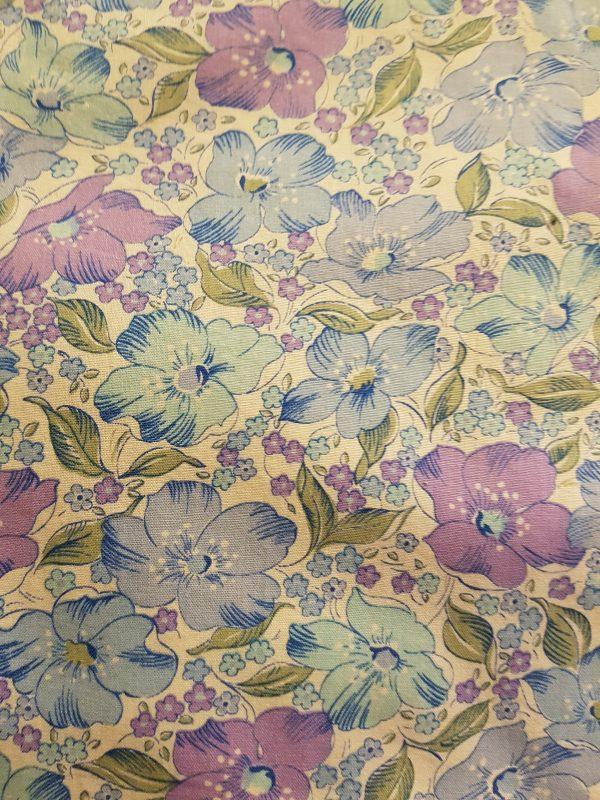 purple blue flowers beeswax wraps